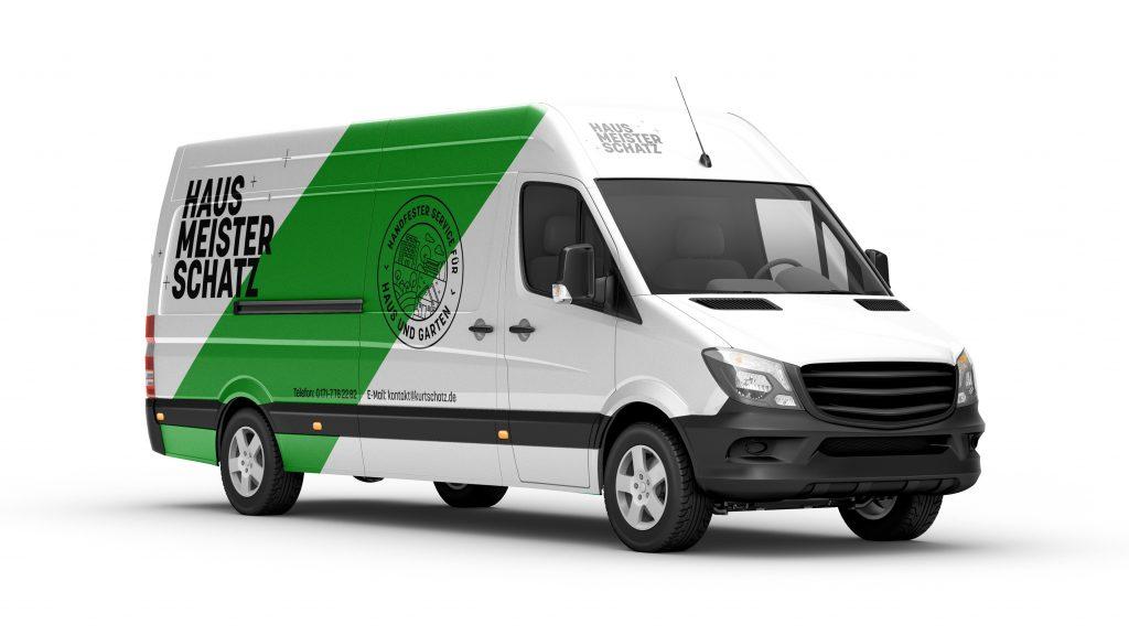 Hinterland corporate design hausmeister schatz carbranding